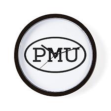PMU Oval Wall Clock