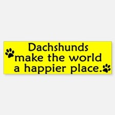 Happy Place Dachshund Bumper Bumper Bumper Sticker