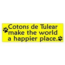 Happy Place Coton de Tulear Bumper Bumper Sticker