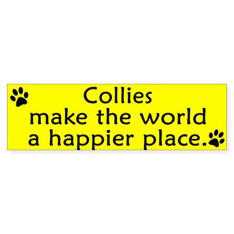 Happy Place Collie Bumper Sticker
