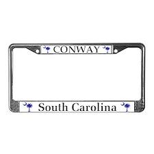 Conway South Carolina License Plate Frame