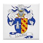 Llanos Family Crest Tile Coaster