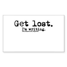 Get Lost Rectangle Decal