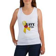 Navy Wife (Yellow Ribbon Rose) Women's Tank Top