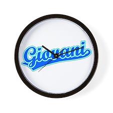 Retro Giovani (Blue) Wall Clock