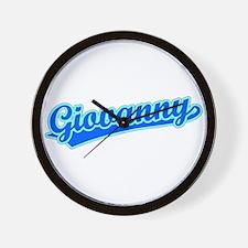 Retro Giovanny (Blue) Wall Clock