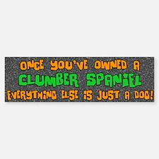 Just a Dog Clumber Bumper Bumper Bumper Sticker