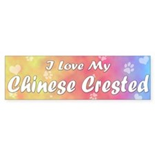 Pastel Love Chinese Crested Bumper Bumper Sticker
