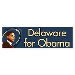 Delaware for Obama bumper sticker