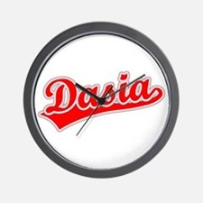 Retro Dasia (Red) Wall Clock