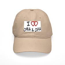 I Love Oma and Opa Baseball Cap