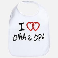 I Love Oma and Opa Bib
