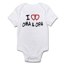 I Love Oma and Opa Infant Bodysuit