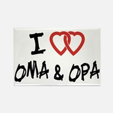 I Love Oma and Opa Rectangle Magnet