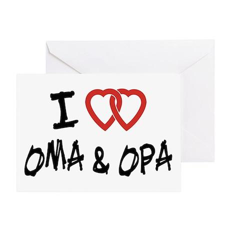 I Love Oma and Opa Greeting Card