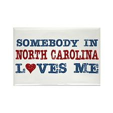 Somebody in North Carolina Loves Me Rectangle Magn