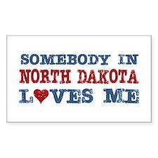 Somebody in North Dakota Loves Me Decal