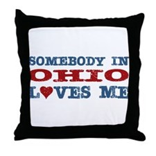 Somebody in Ohio Loves Me Throw Pillow