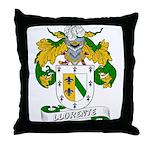 Llorente Family Crest Throw Pillow