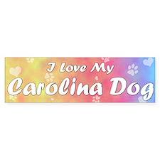 Pastel Love Carolina Dog Bumper Bumper Sticker