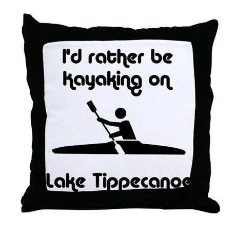 Kayaking Throw Pillow