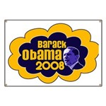 Barack Obama Blue & Orange Banner