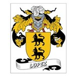 Lopez Family Crest Small Poster