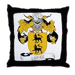 Lopez Family Crest Throw Pillow