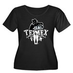 TexMexFM.com Women's Plus Size Scoop Neck Dark T-S