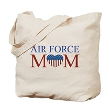 Patriotic Air Force Mom Tote Bag