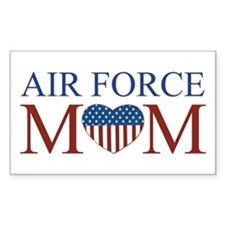 Patriotic Air Force Mom Rectangle Decal