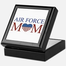 Patriotic Air Force Mom Keepsake Box
