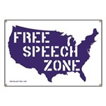 America is a Free Speech Zone Banner