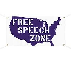 America is a Free Speech Zone Banner