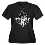 TexMexFM.com Women's Plus Size V-Neck Dark T-Shirt