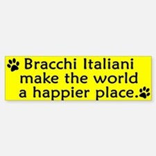 Happy Place Bracco Italiano Bumper Bumper Bumper Sticker