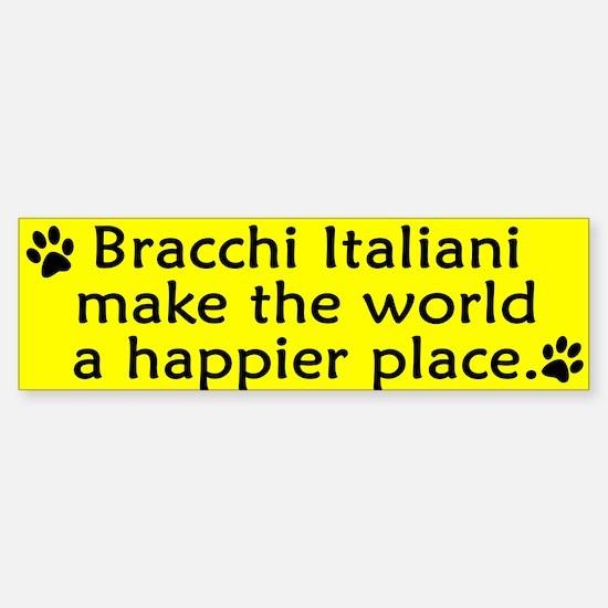 Happy Place Bracco Italiano Bumper Bumper Bumper Sticker