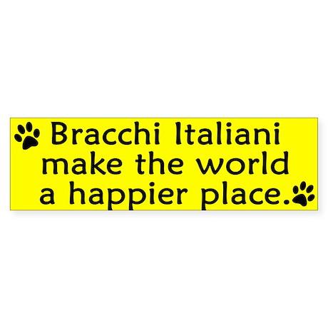 Happy Place Bracco Italiano Bumper Sticker
