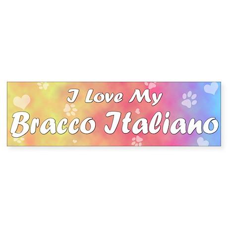 Pastel Love Bracco Italiano Bumper Sticker