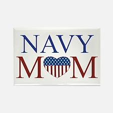 Patriotic Navy Mom Rectangle Magnet