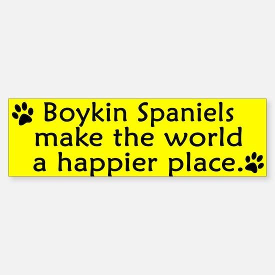 Happy Place Boykin Spaniel Bumper Bumper Bumper Sticker