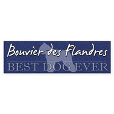 Best Dog Ever Bouvier des Flandres Bumper Car Sticker