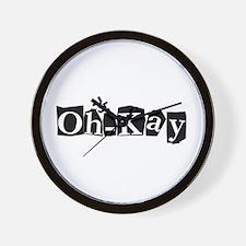 Oh-Kay Wall Clock