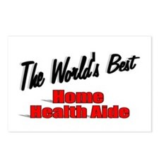 """""""The World's Best Home Health Aide"""" Postcards (Pac"""