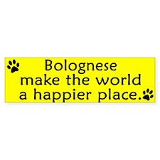 Happy Place Bolognese Bumper Bumper Sticker