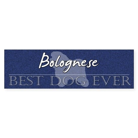Best Dog Ever Bolognese Bumper Sticker