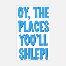 Oy The Places You'll Shlep! Rectangle Decal