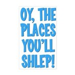 Oy The Places You'll Shlep! Rectangle Sticker