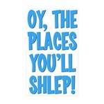 Oy The Places You'll Shlep! Sticker (10 pack)