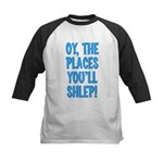 Oy The Places You'll Shlep! Kids Baseball Jersey